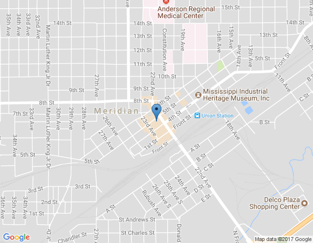 Map of Meridian